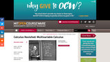 Calculus Revisited: Multivariable Calculus, Fall 2011