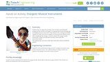 Energetic Musical Instruments