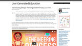 Introducing Design Thinking to Elementary Learners