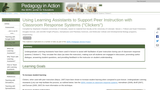 """Using Learning Assistants to Support Peer Instruction with Classroom Response Systems (""""Clickers"""")"""