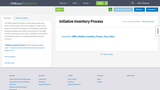 Initiative Inventory Process