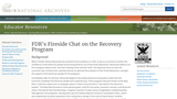 FDR's Fireside Chat on the Purposes and Foundations of the Recovery Program