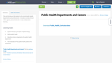Public Health Departments and Careers