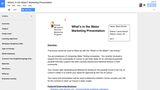 What's in the Water? Marketing Presentation CATE Lesson Plan