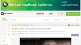 Simple Justice 5: Marshall's Closing Statement