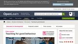 Teaching For Good Behaviour
