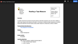 Reading a Tape Measure CATE Lesson Plan