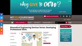 Biomedical Engineering Seminar Series: Developing Professional Skills, Fall 2006