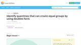 equal groups using doubles