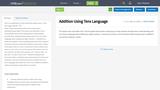 Addition Using Tens Language