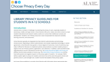Library Privacy Guidelines for Students in K-12 Schools – Choose Privacy Every Day