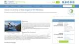 A New Angle on PV Efficiency