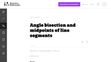 Angle Bisection and Midpoints of Line Segments