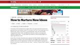How to Nurture New Ideas