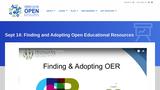 CCCOER Finding and Adopting OER Webinar