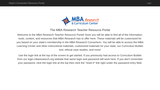 MBA Research State's Connection Resource Portal