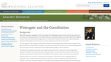 Constitutional Issues: Watergate and the Constitution