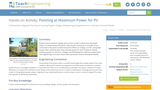 Pointing at Maximum Power for PV