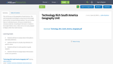 Technology Rich South America Geography Unit