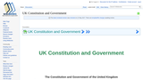 UK Constitution and Government