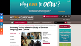 Germany Today: Intensive Study of German Language and Culture, January IAP 2011